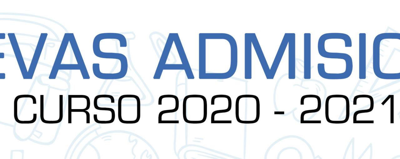 PROCEDIMIENTO DE NUEVA ADMISIÓN CURSO 2020-2021